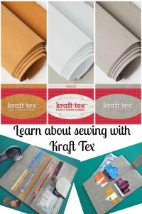 Learning about the new 'paper fabric' product called Kraft Tex and how you can get a leather-like appearance by treating it before sewing. Great for wallets.