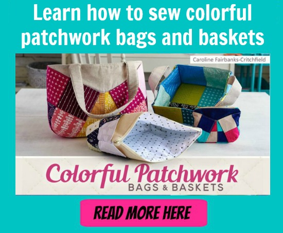 patchwork bags and baskets