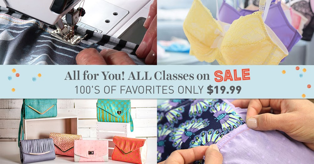 Craftsy ALL Classes sale. Every class on sale at just $19.99 or less. Grab them while you can and empty your wishlist into your cart! I just did.