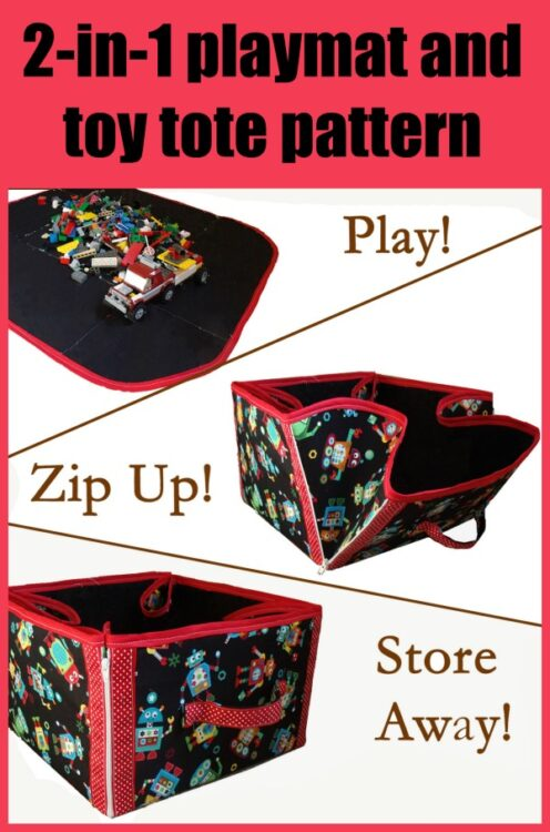 2-in-1 playmat and toy tote pattern