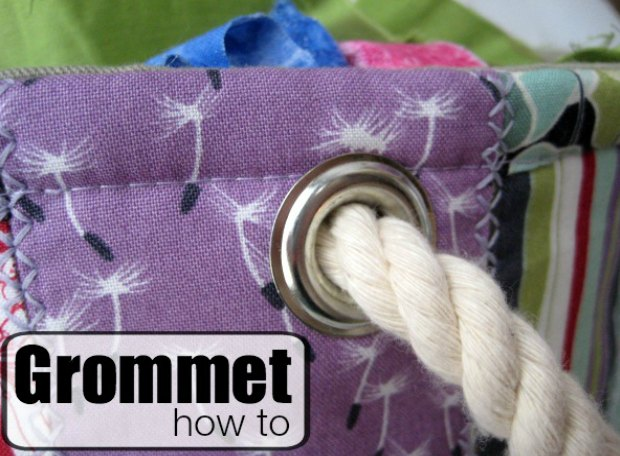 How to use and install grommets. Perfect for making bags - adding handles, drawstrings and also decorative elements to your bags. Good tutorial.