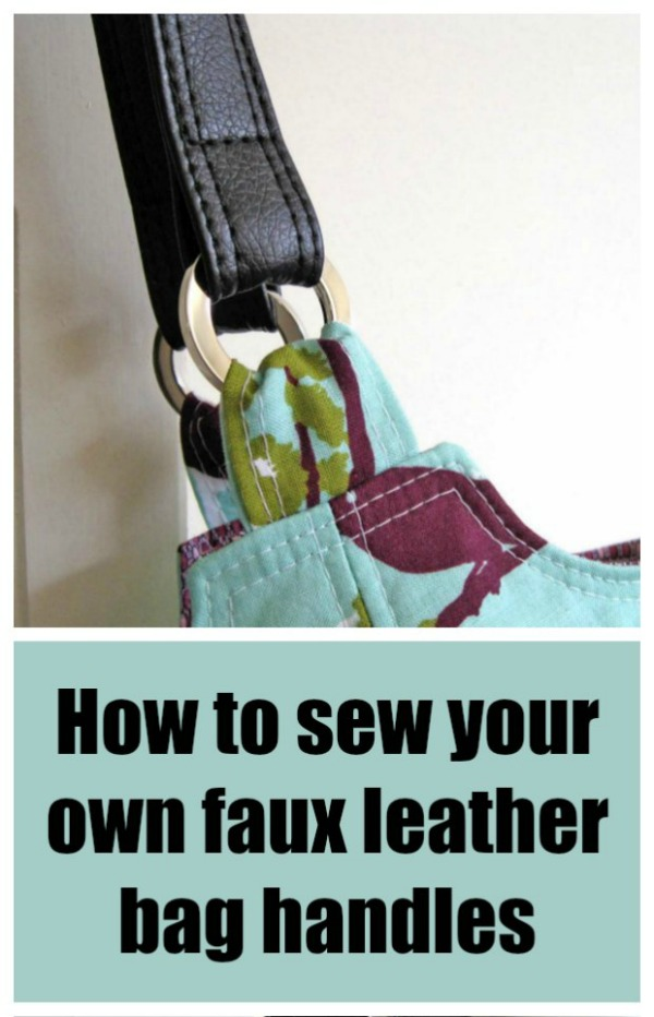 How to sew your own faux leather bag handles.