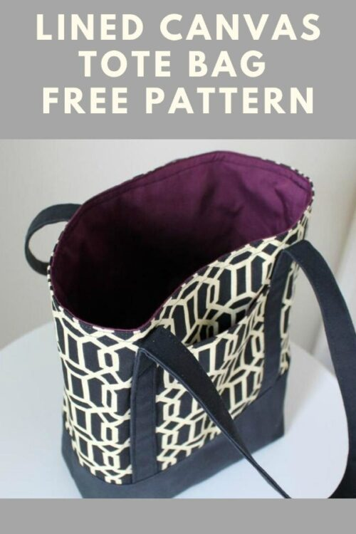Lined Canvas Tote Bag pattern