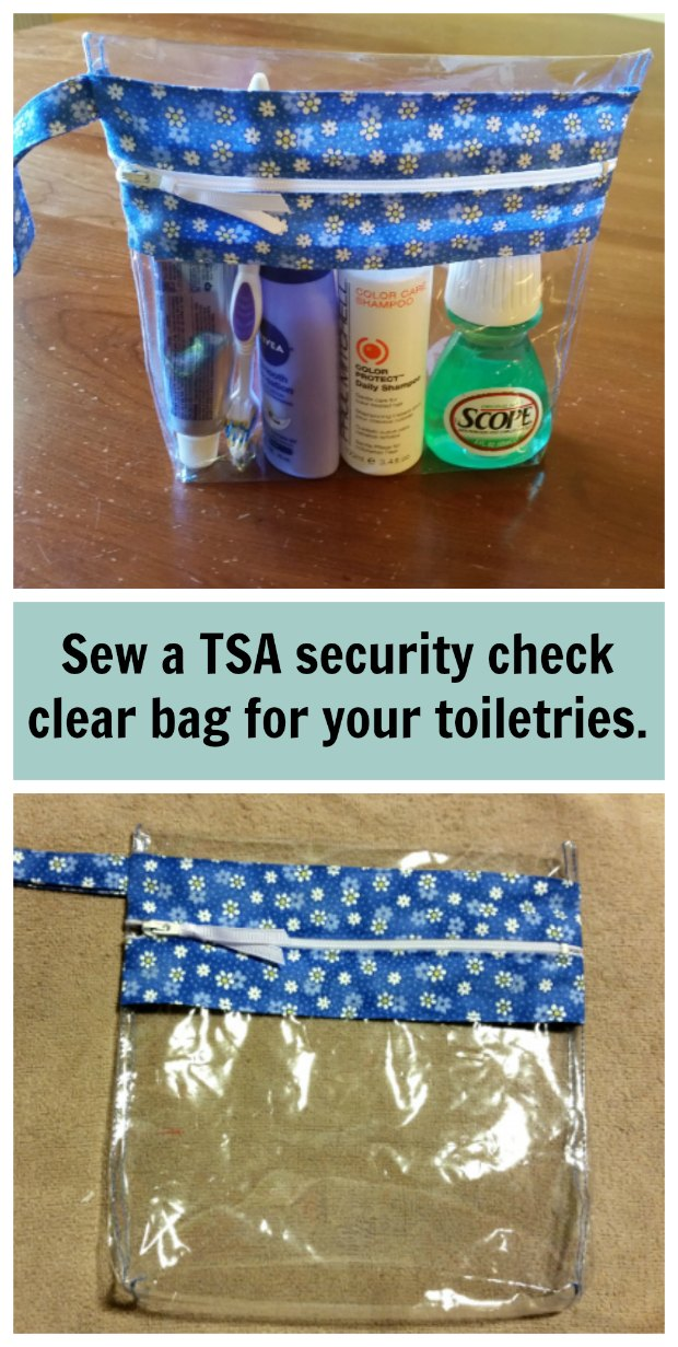 Make a TSA Screening Toiletry Bag FREE sewing tutorial