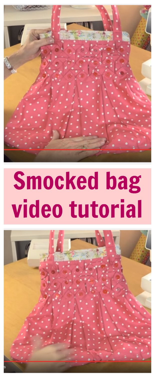 Turn the ancient art of smocking into something modern with this video tutorial showing you how to create this smocked bag.  No sewing pattern needed.