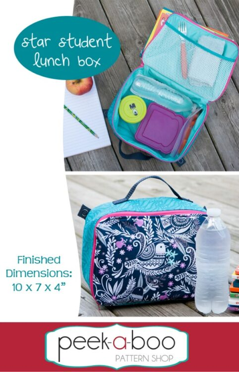 Star Student Lunch Box pattern.