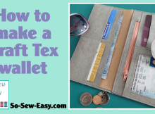 Sew a Kraft Tex wallet. Free sewing pattern and video tutorial.