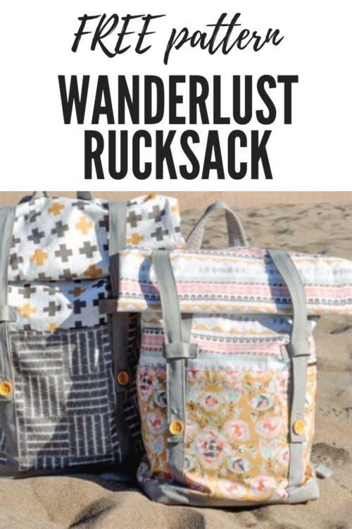 Wanderlust Rucksack free pattern