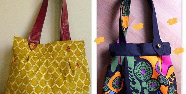 Free bag sewing pattern. The 'wasp' bag is simple to make, but has some interesting features that make it stand out from the crowd.