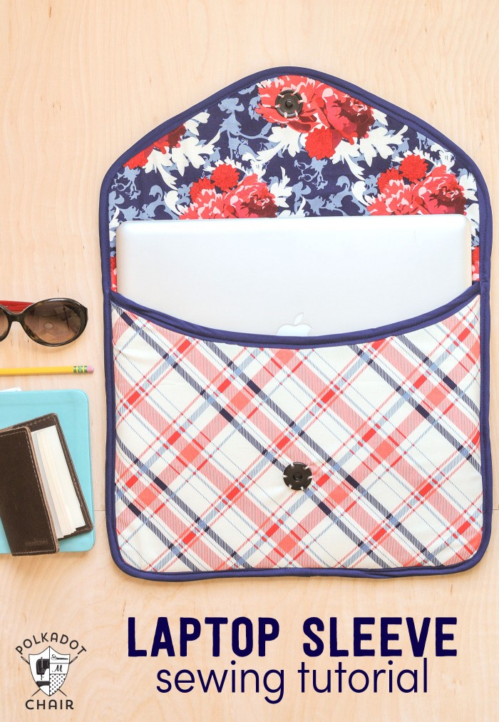 Sew Your Own Tablet or Laptop Bag FREE sewing tutorial