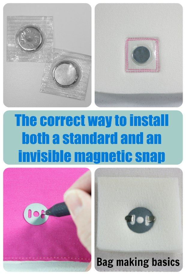 Learn how to install magnetic clasps and snaps the right way. This tutorial shows you both the invisible and the regular magnetic snaps. I wasn't adding enough stabilizer to mine for sure.