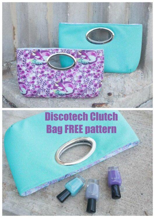 Discotech Clutch Bag FREE pattern