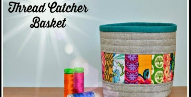 Love this scrappy thread catcher basket. Designed as a thread catcher to sit next to your sewing machine, but I'm actually sewing it for my guest room to hold face cloths, small bottles and amenities too. Great sewing tutorial.