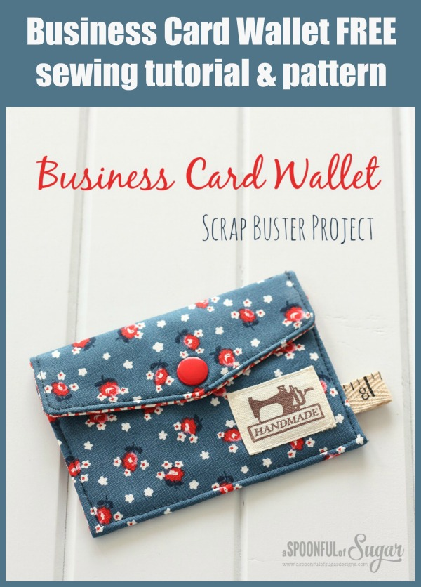 Business Card Wallet FREE sewing tutorial & pattern