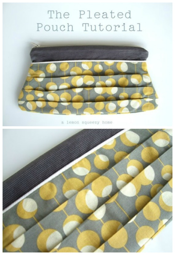 Pleated Pouch Free Sewing Tutorial