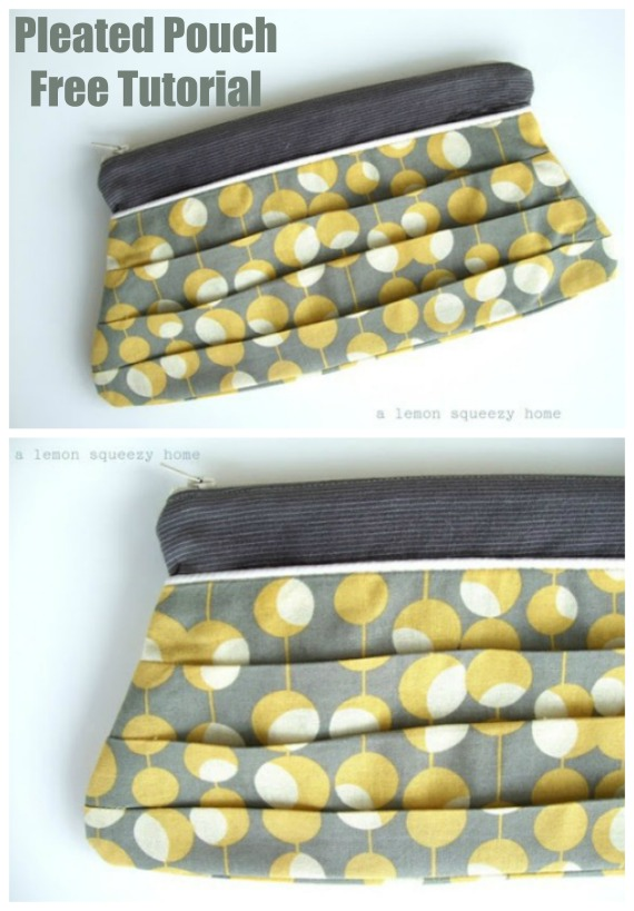 Pleated Pouch Free Tutorial