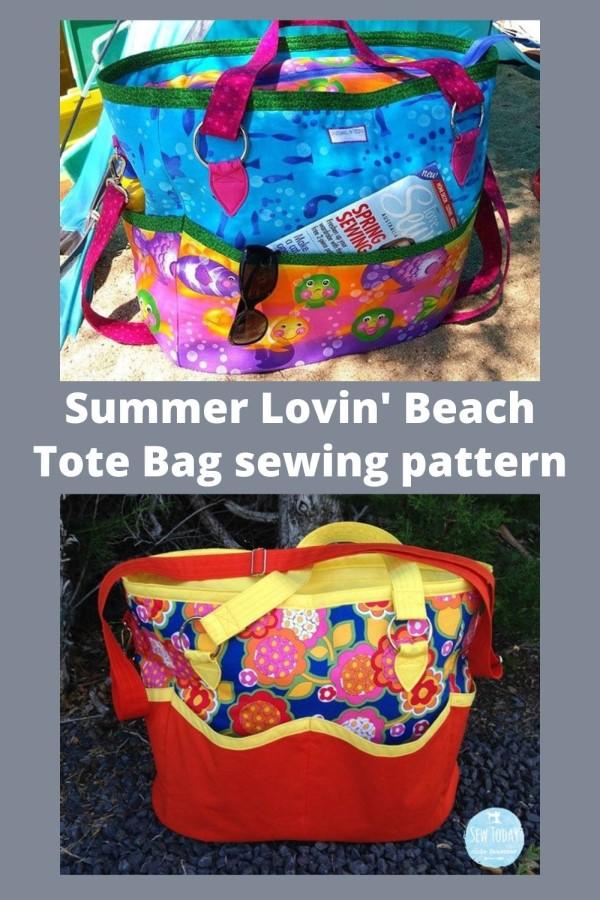Summer Lovin' Beach Tote Bag sewing pattern
