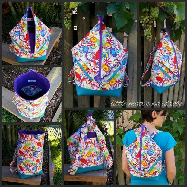 Andrea's Rucksack sewing pattern in 2 sizes
