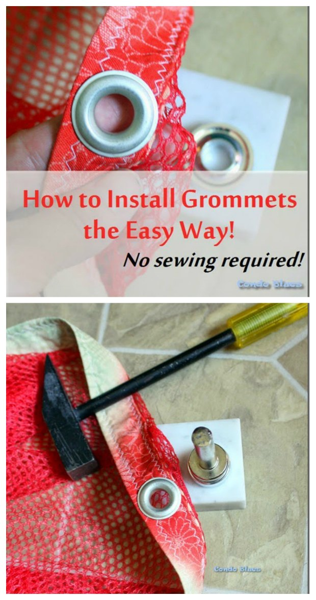 How to set grommets - a FREE photo sewing tutorial