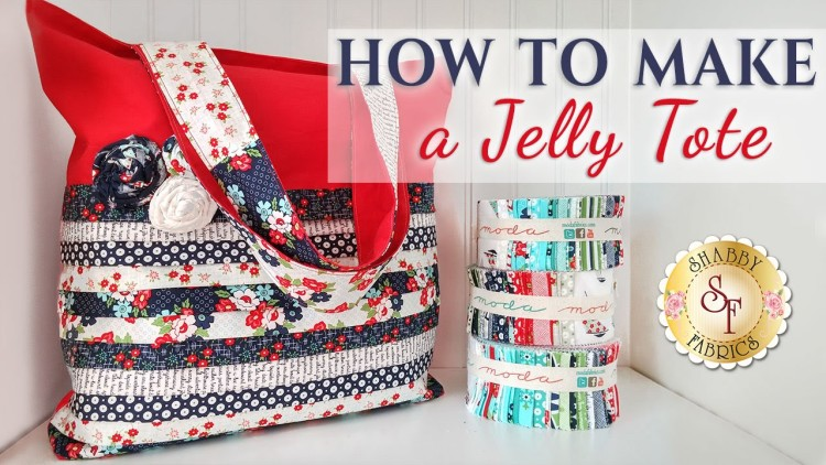 Sew a Jelly Roll Tote Bag FREE video