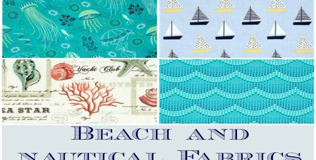 Summer is coming! Gorgeous beach, seaside and nautical fabrics. I love the one with the beach huts on it.