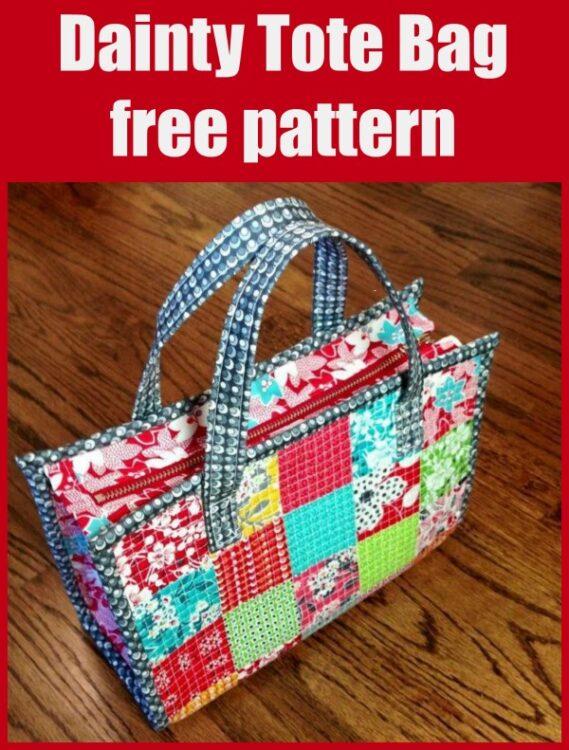 Free tote bag sewing pattern.