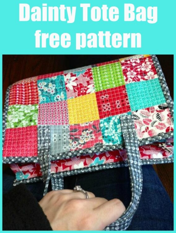 Dainty Tote Bag free pattern