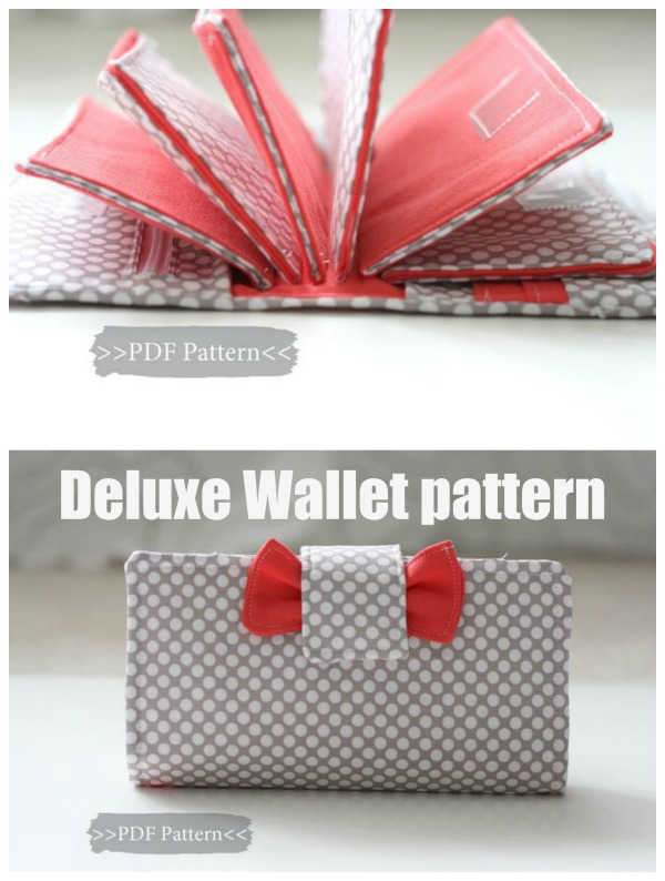 Deluxe Wallet sewing pattern.