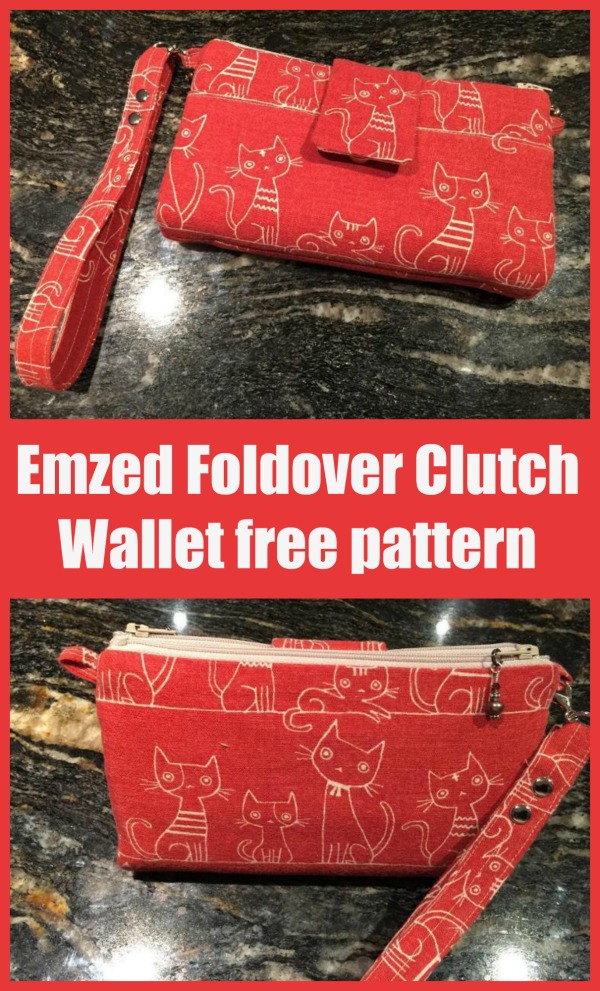 Emzed Foldover Clutch Wallet free pattern