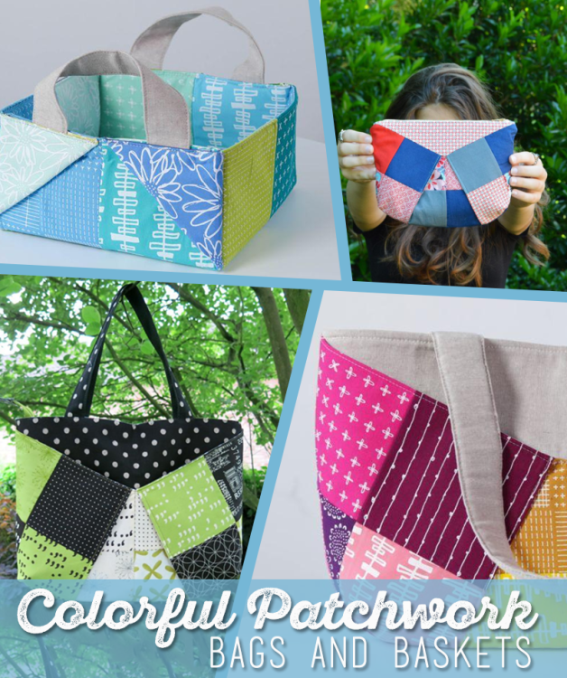 Craftsy video class - learn to sew Colorful Patchwork Bags and Baskets. Love these projects, they appeal to the quilter in me with all of the patchwork, but they'd work equally well with solids too. The instructor is so lovely, makes me feel she's right here with me.