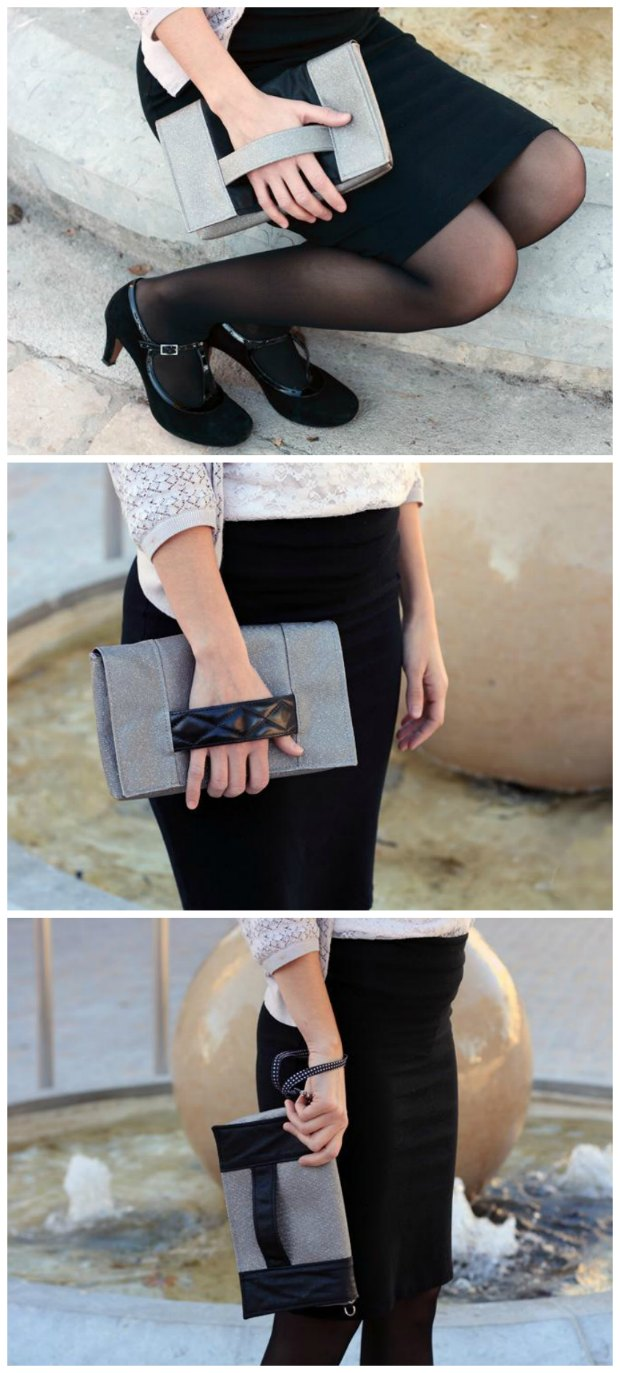 Free sewing pattern for a classy clutch bag. Also comes with the option to make a wrist strap or a shoulder strap. Love the sophisticated look to this one.