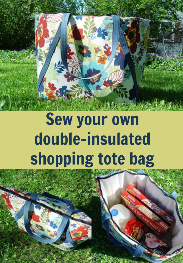 I made one of these double-insulated tote bags for when I bring home frozen food from the store and now I don't have to worry about it being defrosted by the time I get home.  Very easy to make and well worth.