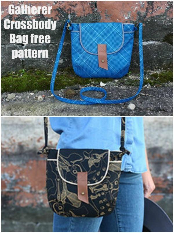 Gatherer Crossbody Bag free sewing pattern