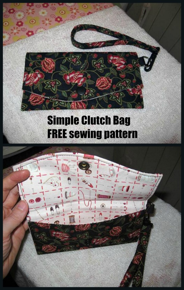 Simple Clutch Bag FREE sewing pattern