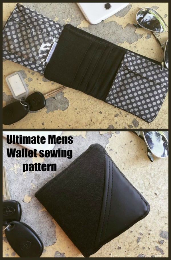 Ultimate Mens Wallet sewing pattern