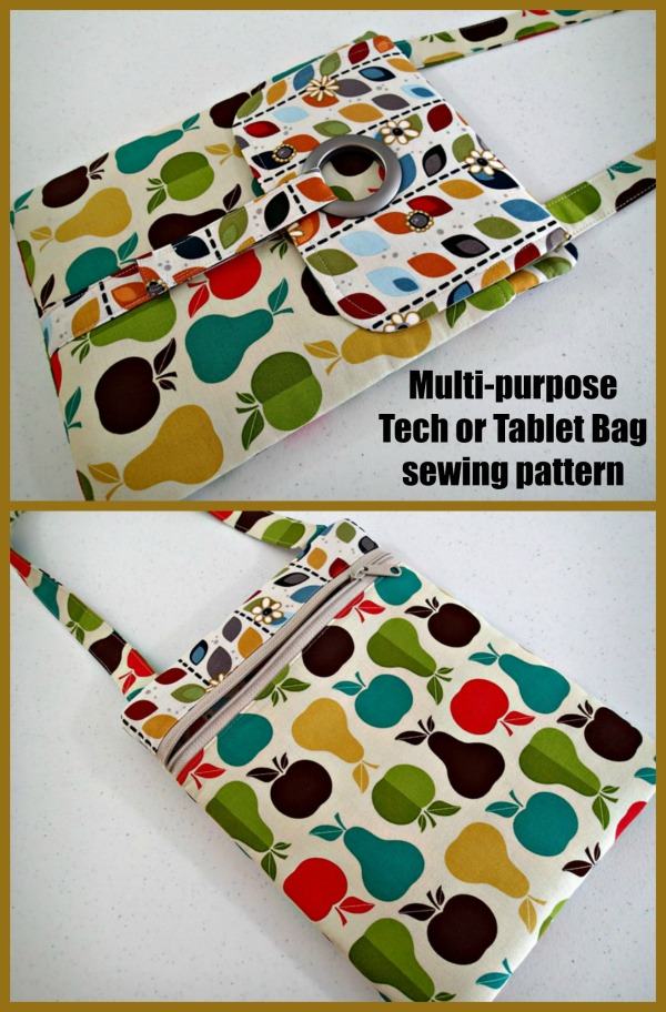 Multi-purpose Tech or Tablet Bag sewing pattern