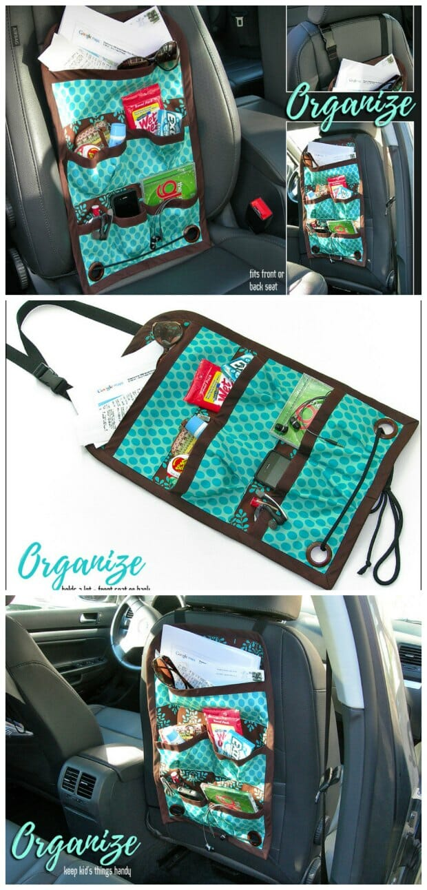 Car Caddy: Front or Back Seat - FREE sewing pattern