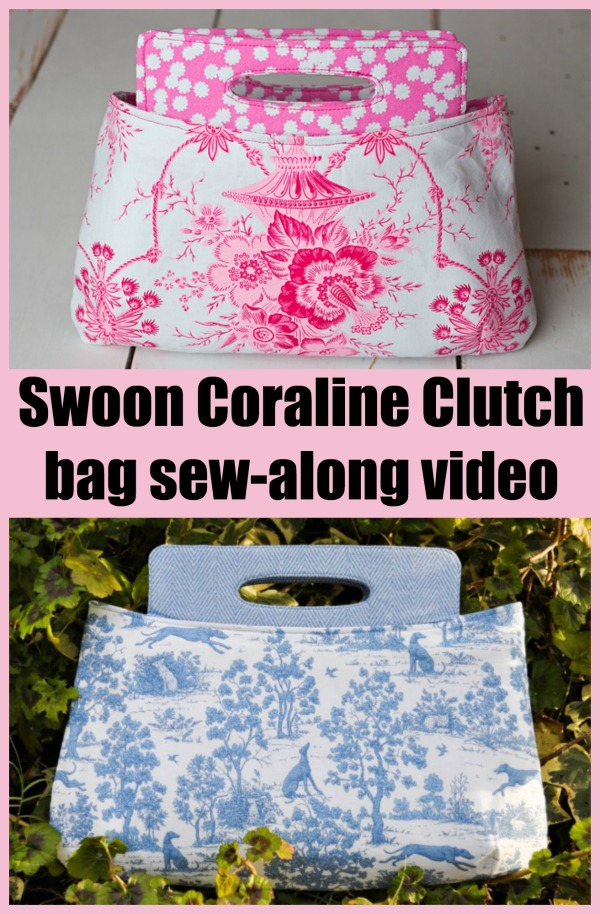 Swoon Coraline Clutch bag sew-along video