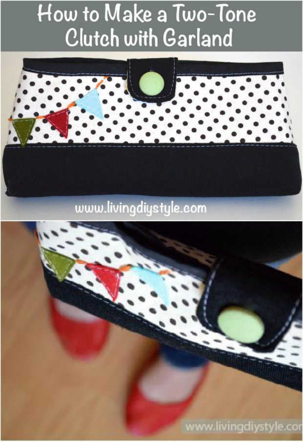 Two-Tone Clutch Bag FREE sewing pattern