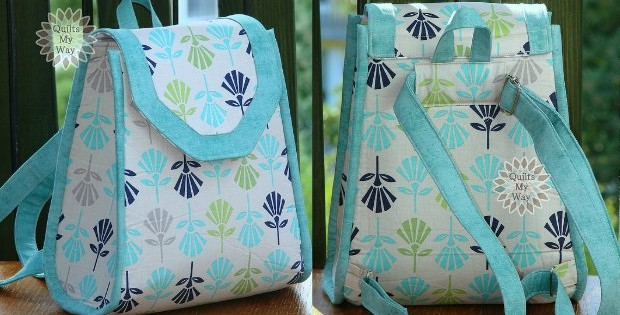 Small, pretty and functional backpack sewing pattern. I like that I can still be casual and handsfree but its not big and bulky. Best small backpack sewing pattern, and it also works for kids too,