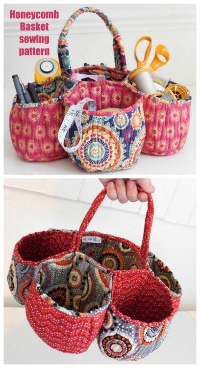 Honeycomb Basket sewing pattern