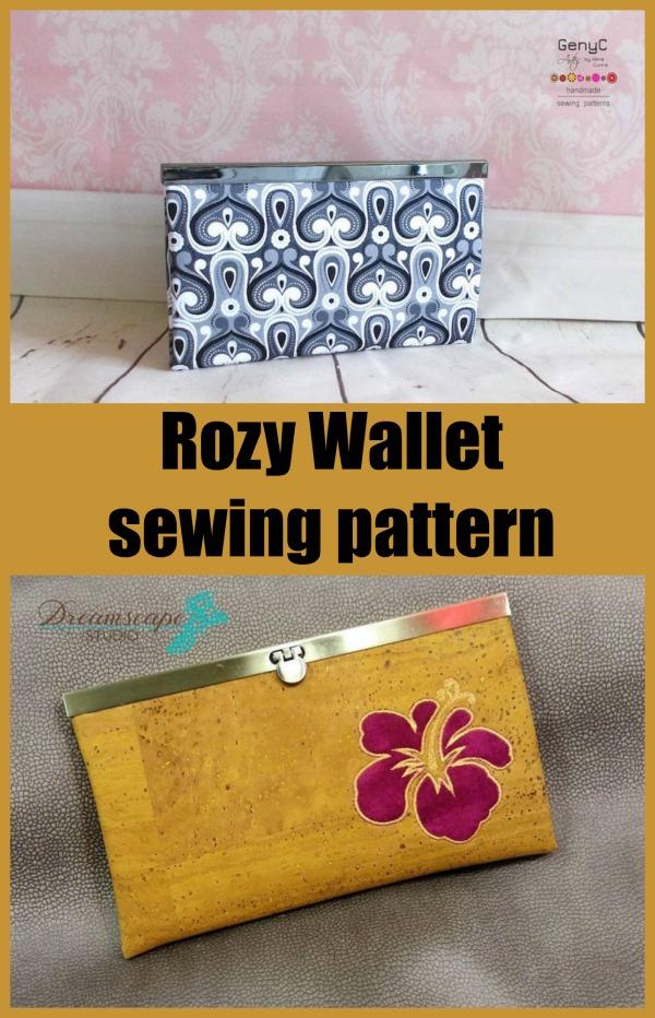 Rozy Wallet sewing pattern