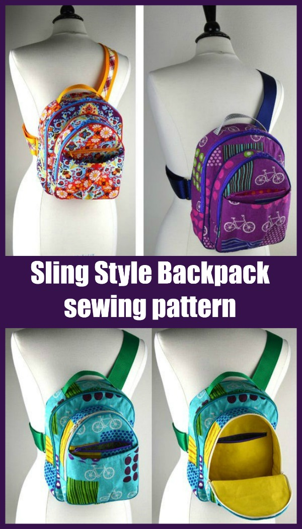 Sling Style Backpack sewing pattern