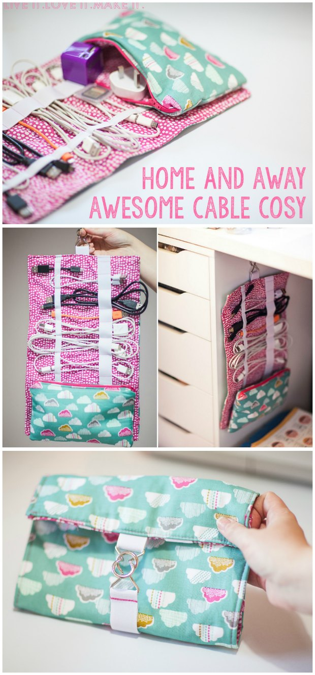 Sew your own cable cosy - FREE sewing tutorial