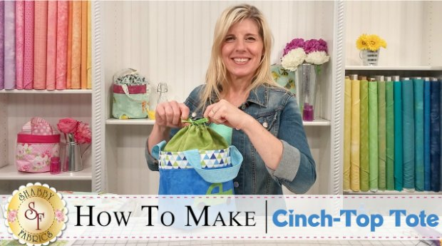 Sew a Cinch Top Tote FREE sewing video.