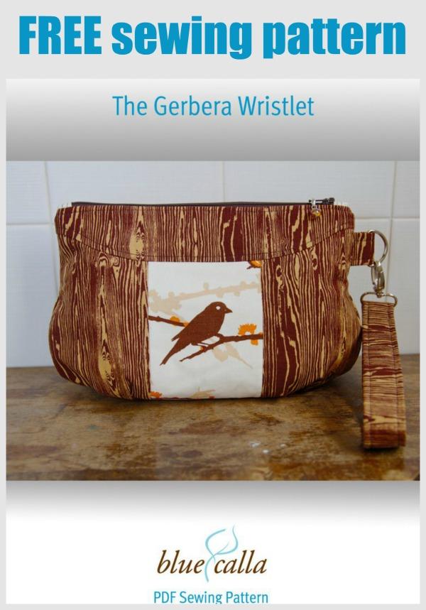 Gerbera Wristlet Purse FREE sewing pattern