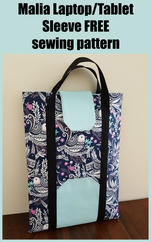Malia Laptop/Tablet Sleeve FREE sewing pattern