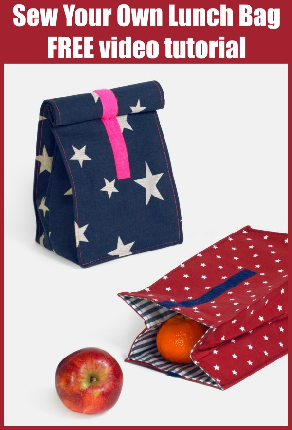 Sew Your Own Lunch Bag FREE video tutorial