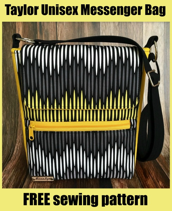 Taylor Unisex Messenger Bag FREE sewing pattern
