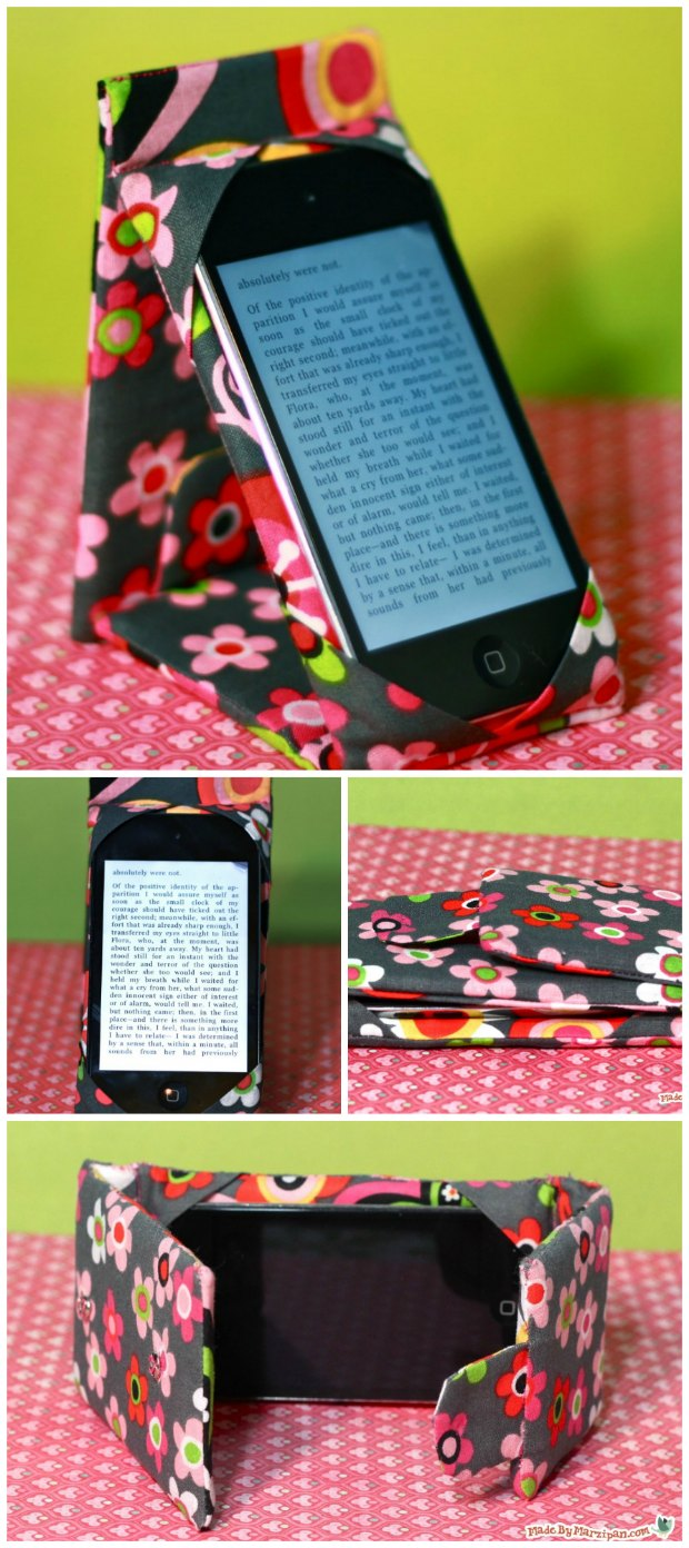 Phone or Tablet Cover and Stand - FREE sewing video tutorial